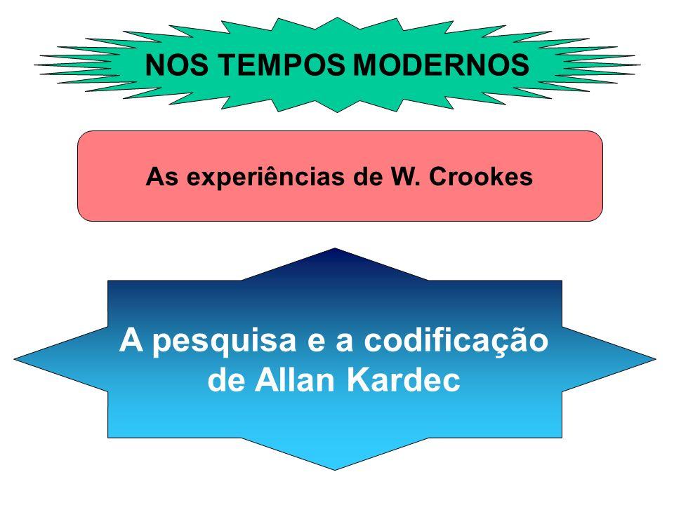 As experiências de W. Crookes A pesquisa e a codificação