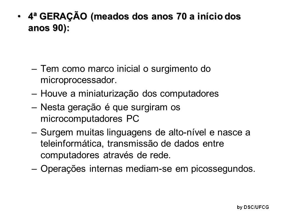 4ª GERAÇÃO (meados dos anos 70 a início dos anos 90):