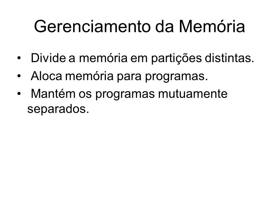 Gerenciamento da Memória