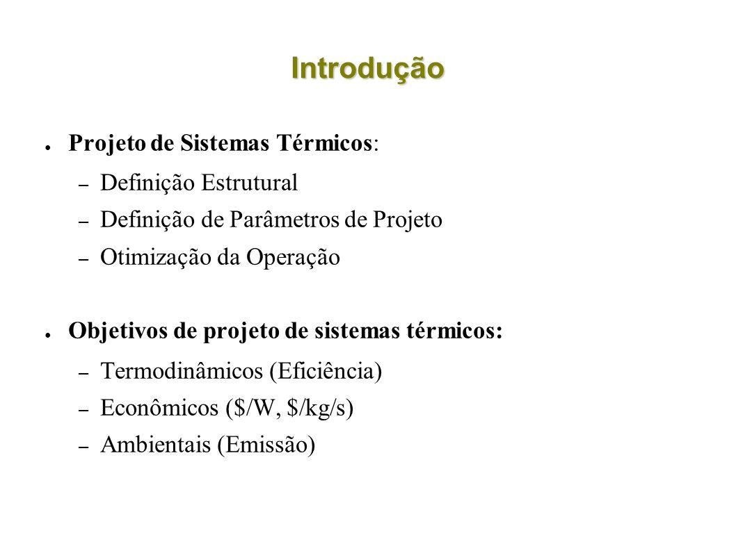 Introdução Projeto de Sistemas Térmicos: Definição Estrutural