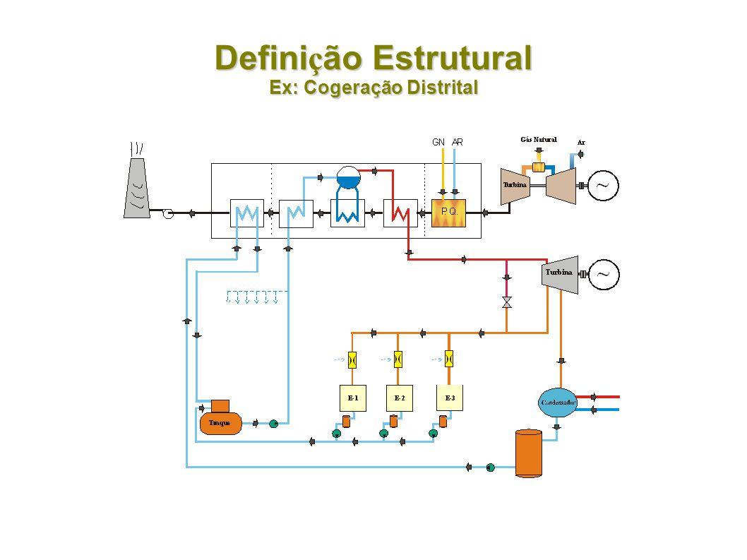 Definição Estrutural Ex: Cogeração Distrital