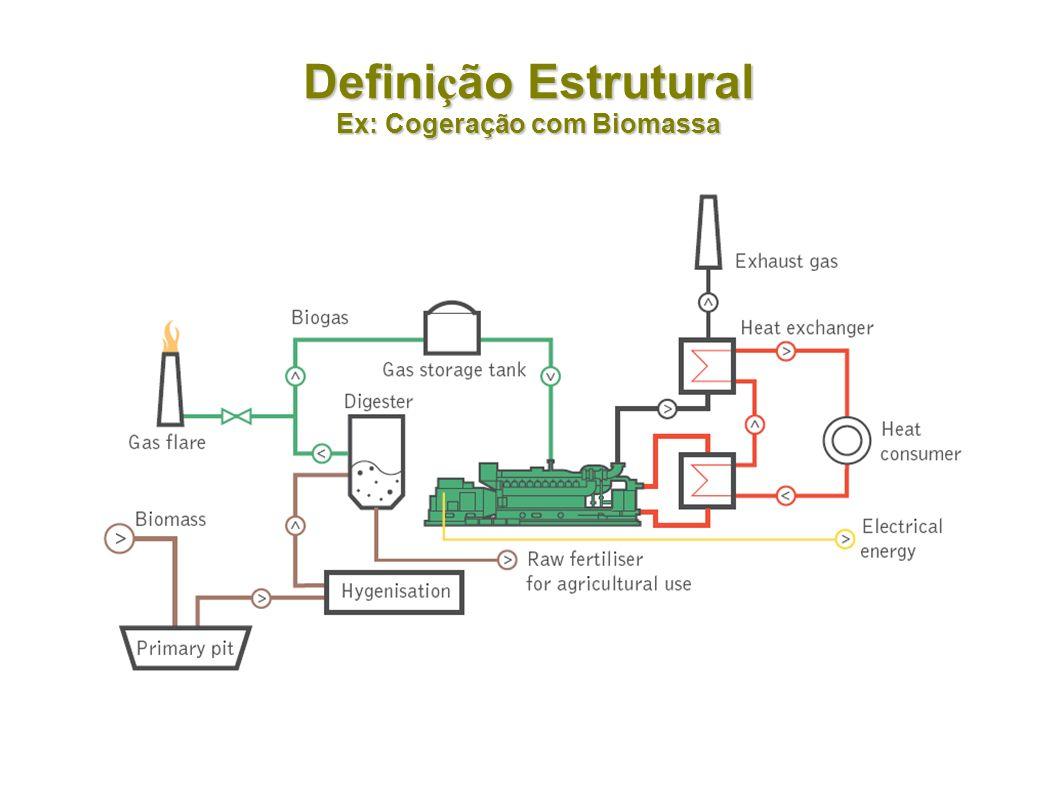 Definição Estrutural Ex: Cogeração com Biomassa