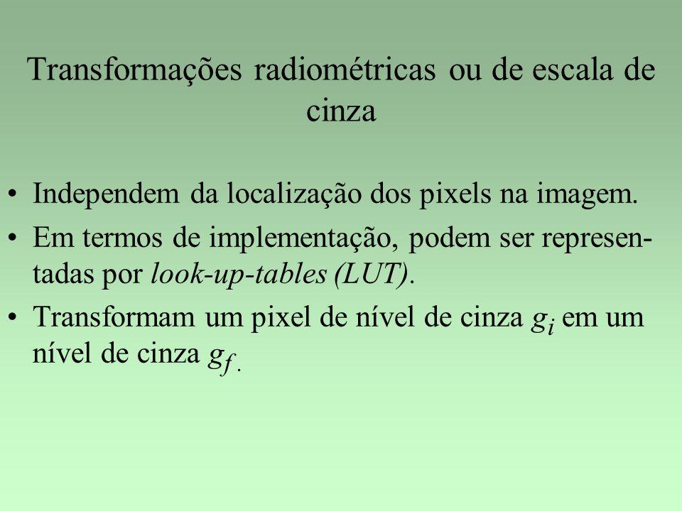 Transformações radiométricas ou de escala de cinza