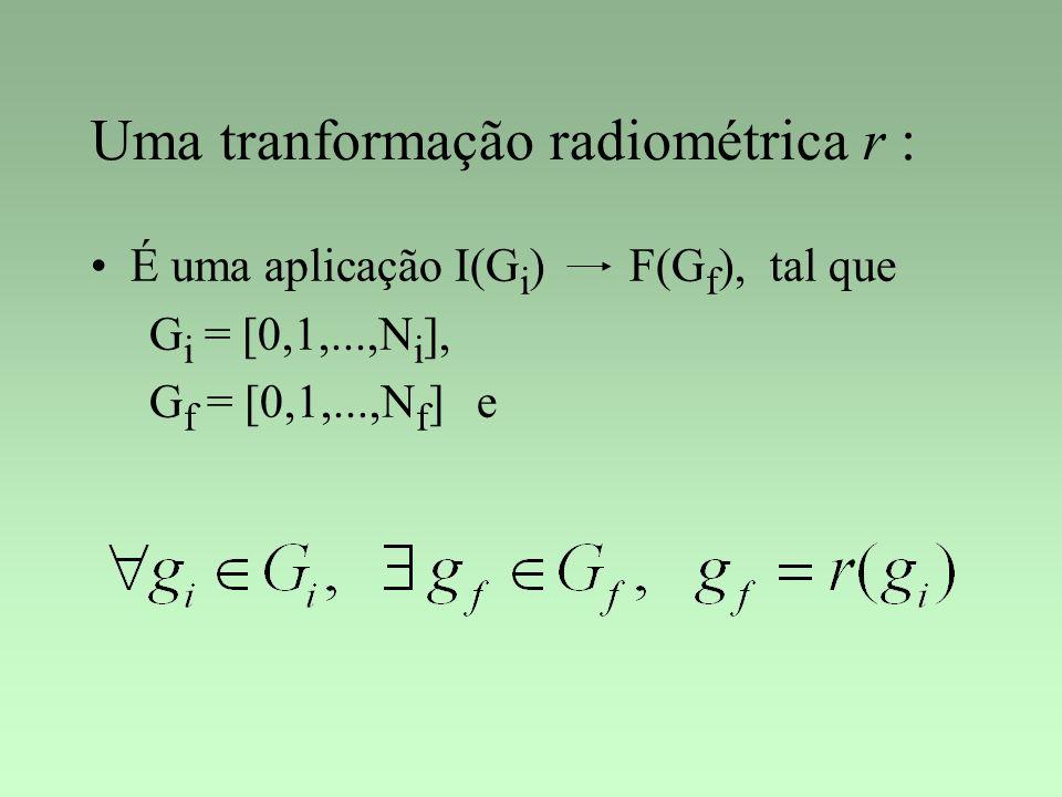 Uma tranformação radiométrica r :