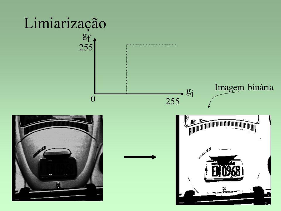 Limiarização gf 255 Imagem binária gi 255