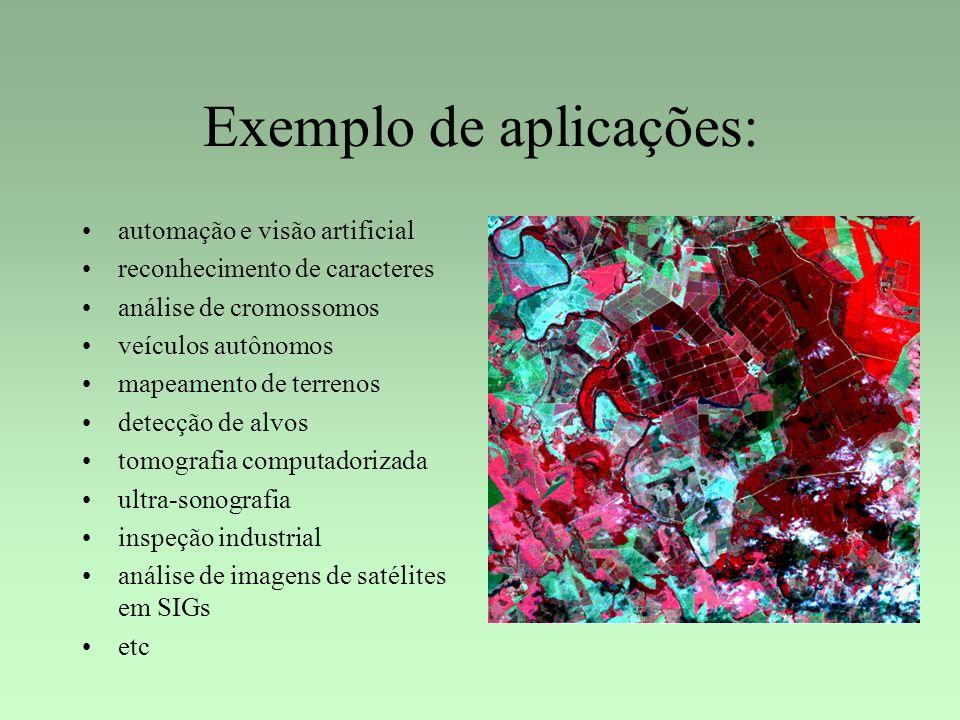 Exemplo de aplicações: