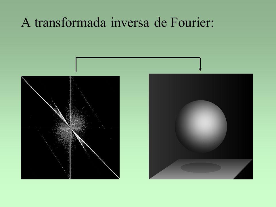 A transformada inversa de Fourier: