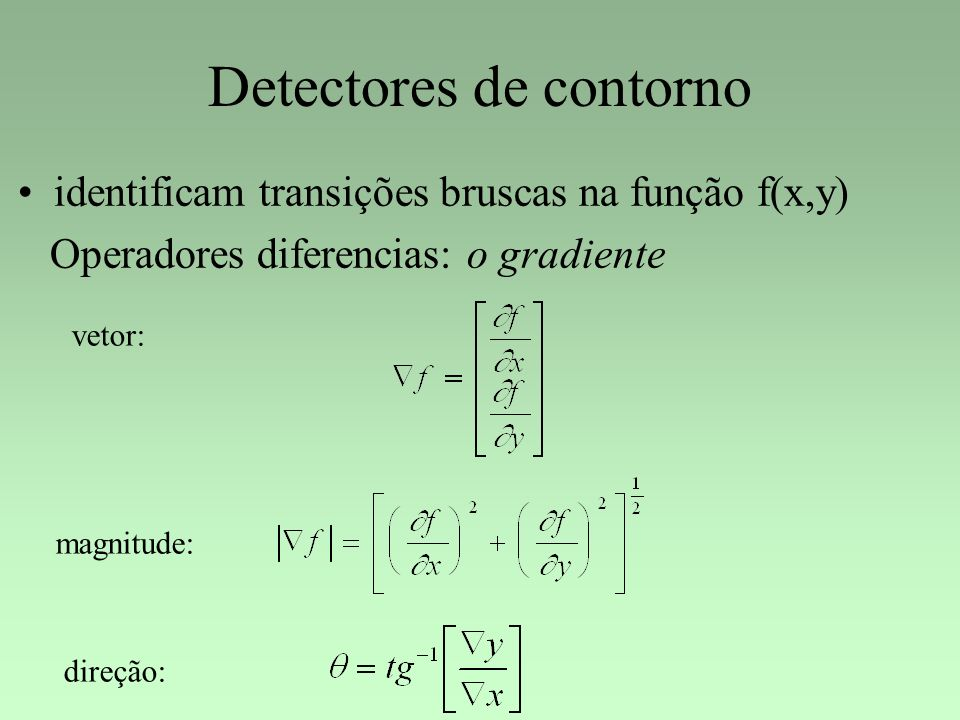 Detectores de contorno
