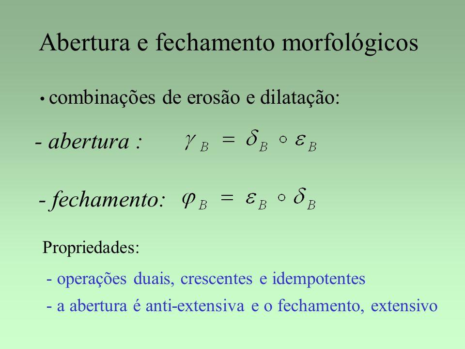 Abertura e fechamento morfológicos