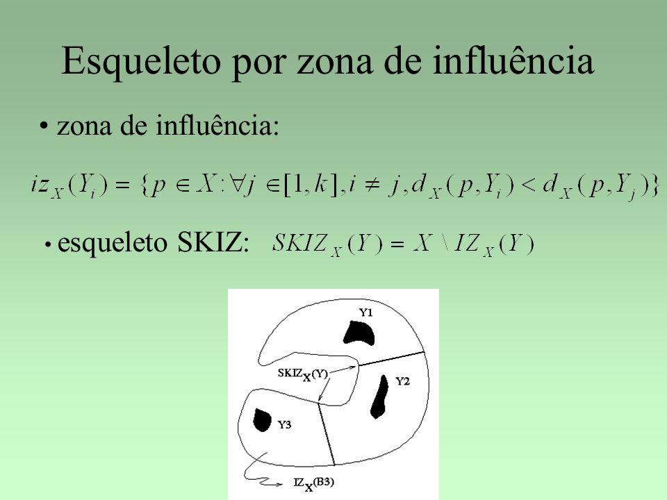 Esqueleto por zona de influência