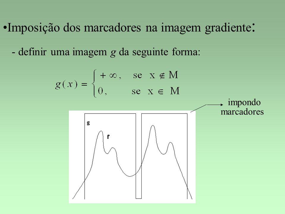 Imposição dos marcadores na imagem gradiente: