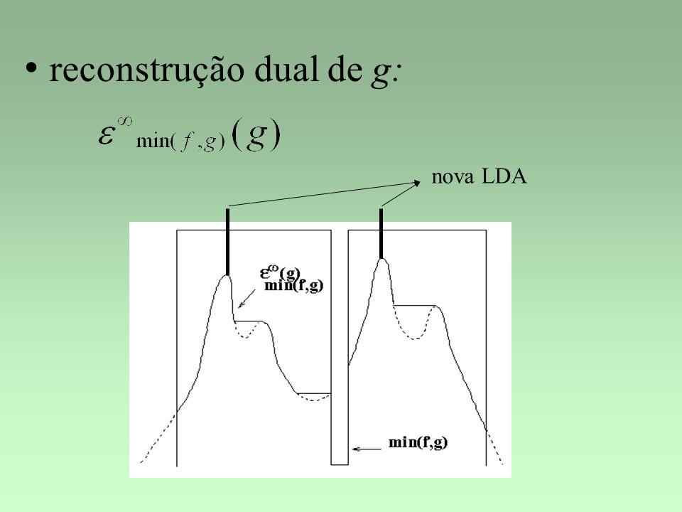 reconstrução dual de g: