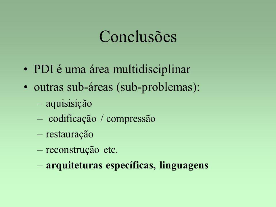Conclusões PDI é uma área multidisciplinar