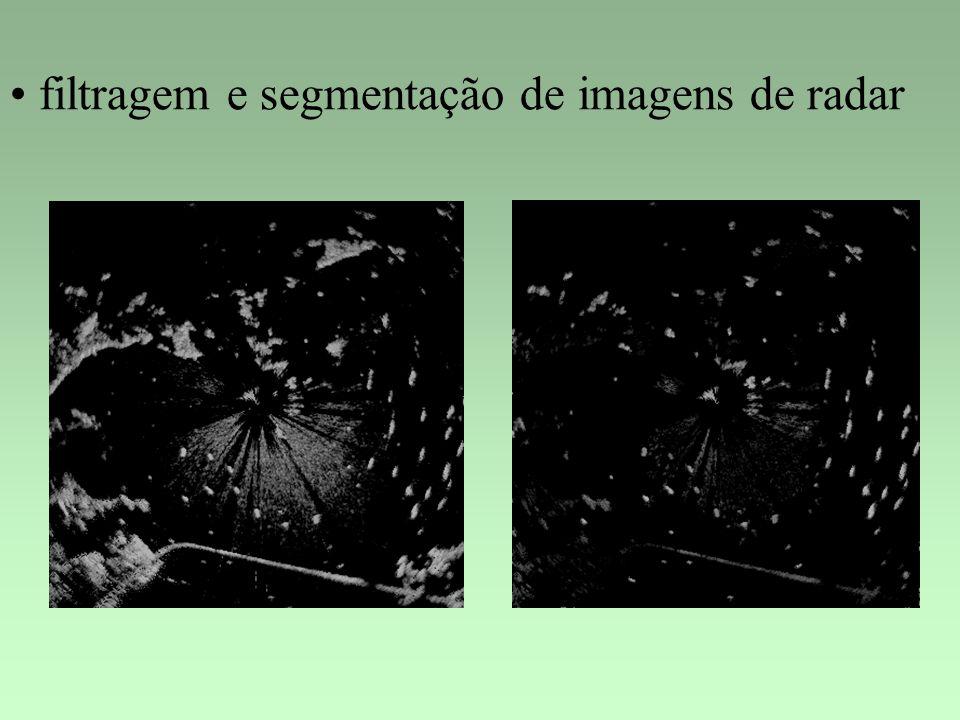 filtragem e segmentação de imagens de radar