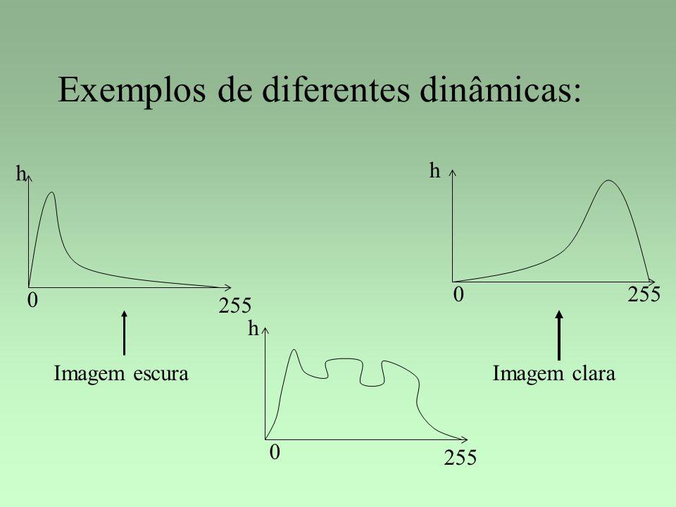 Exemplos de diferentes dinâmicas: