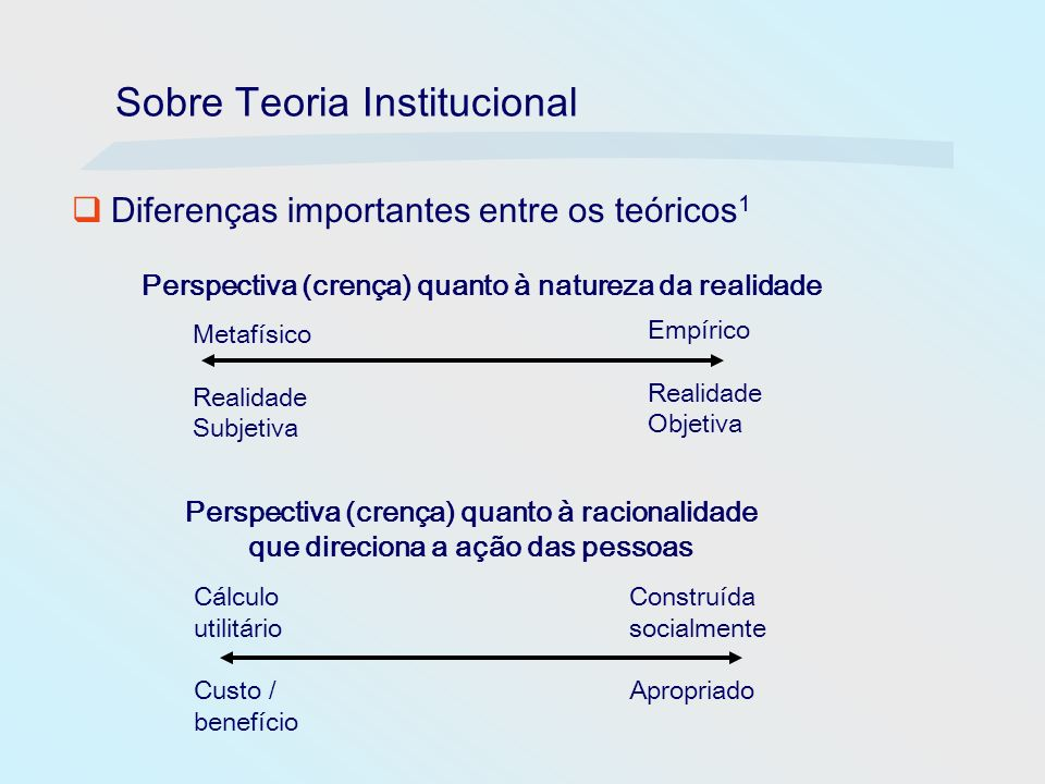 Sobre Teoria Institucional