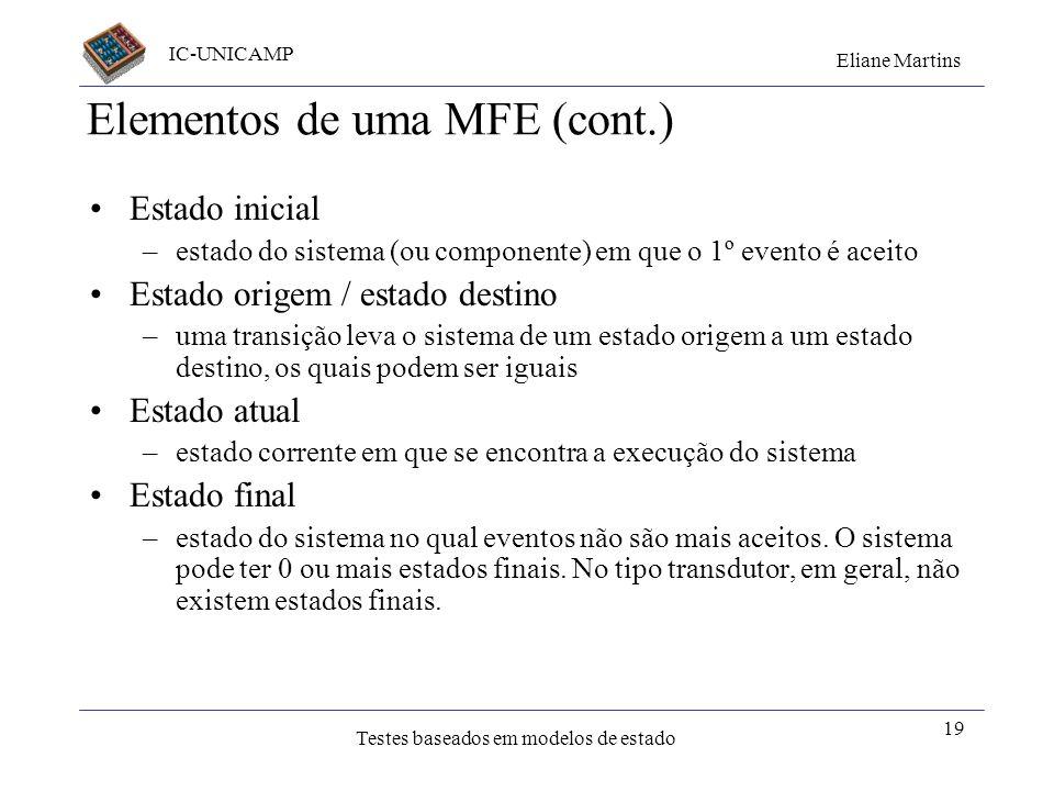 Elementos de uma MFE (cont.)