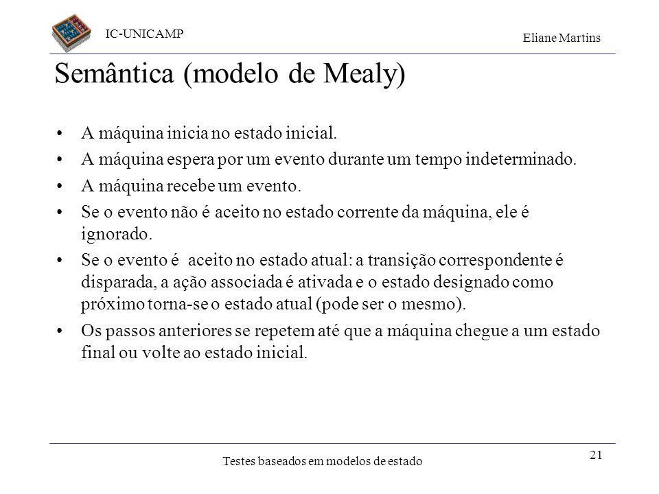 Semântica (modelo de Mealy)