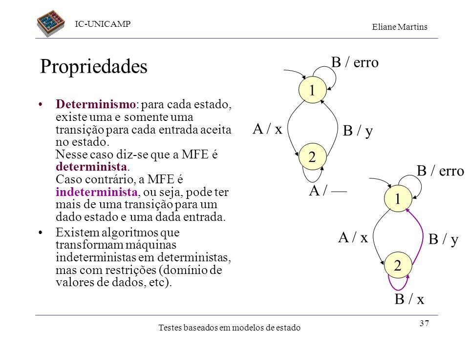 Propriedades B / erro 1 A / x B / y 2 B / erro A / — 1 A / x B / y 2