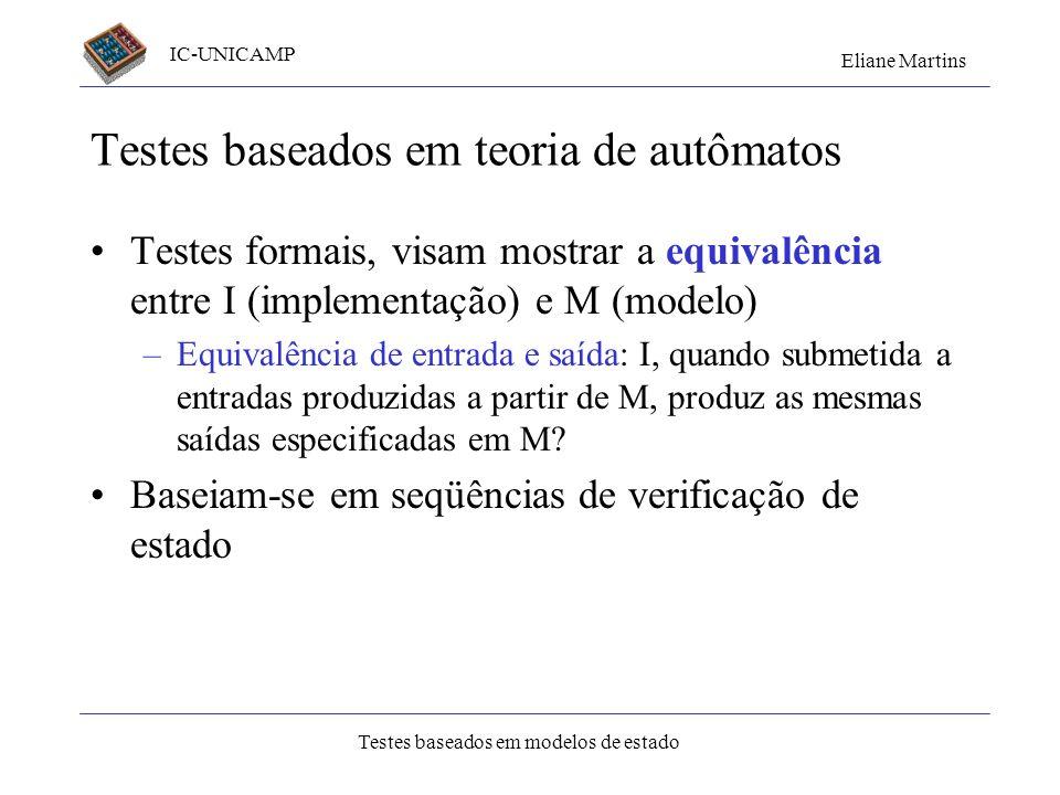 Testes baseados em teoria de autômatos