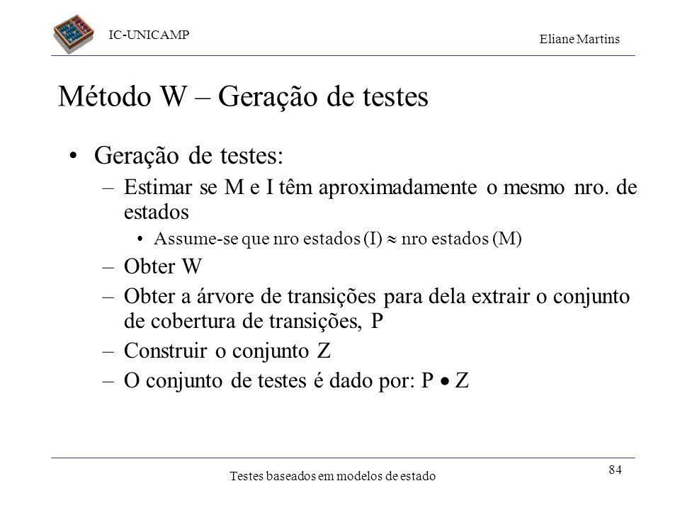 Método W – Geração de testes