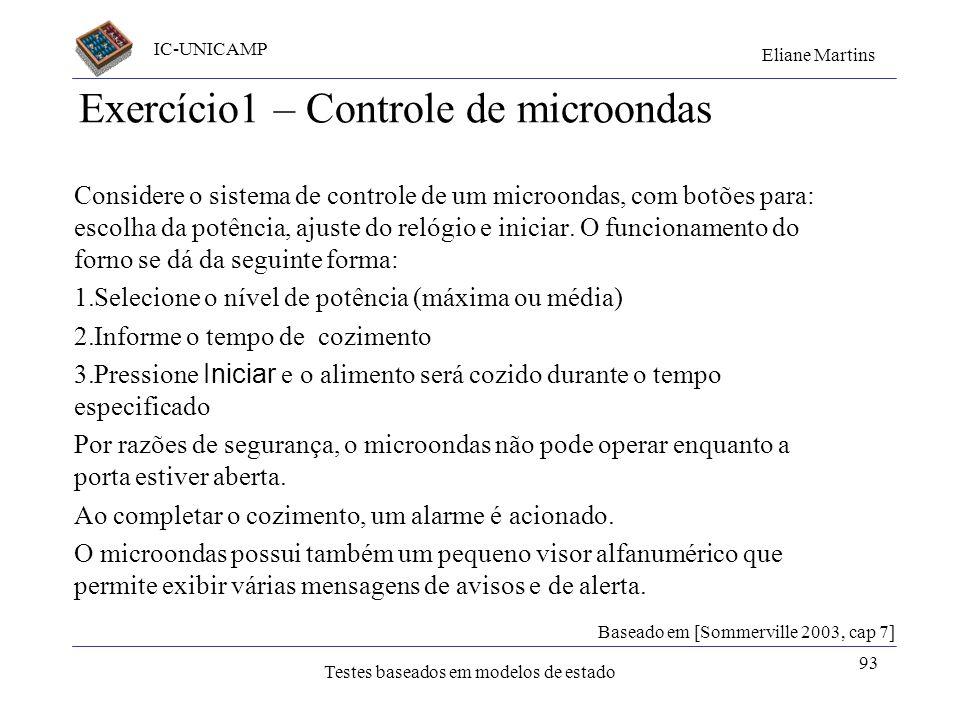 Exercício1 – Controle de microondas