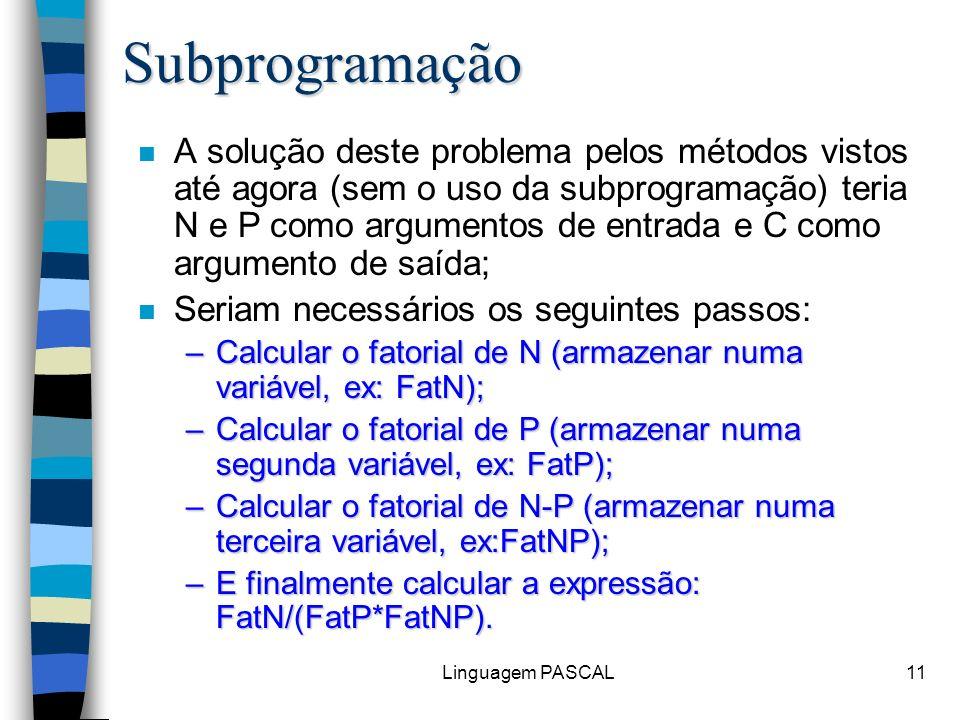 Subprogramação
