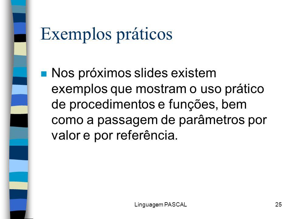 Exemplos práticos