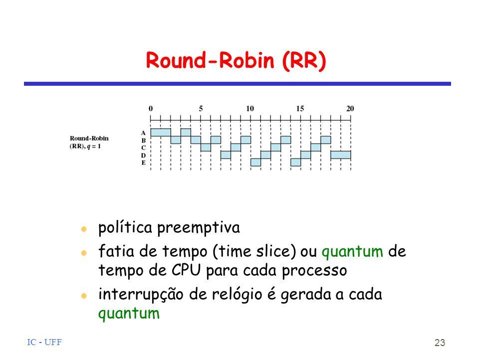 Round-Robin (RR) política preemptiva