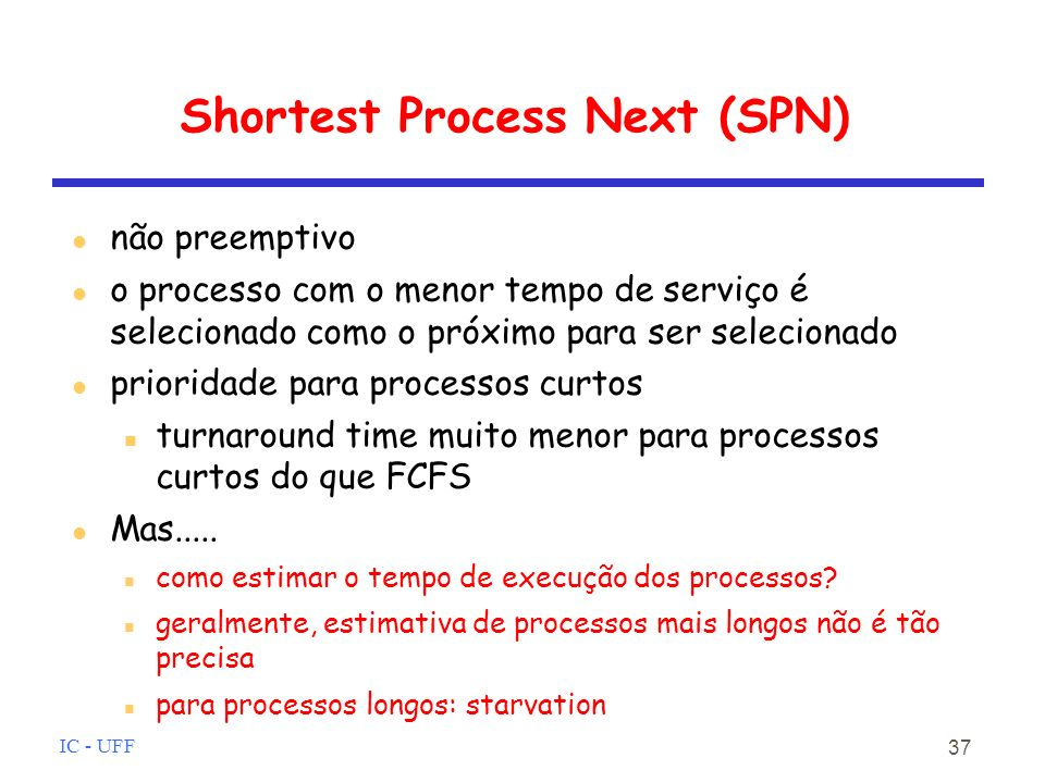 Shortest Process Next (SPN)