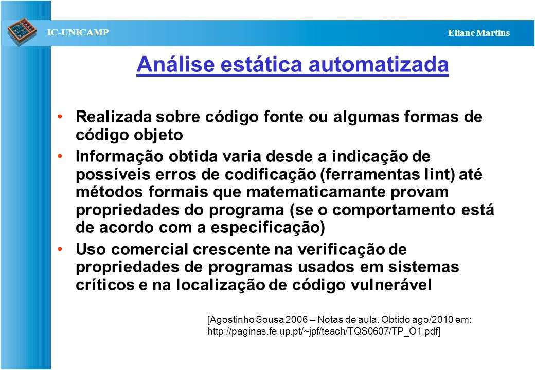 Análise estática automatizada