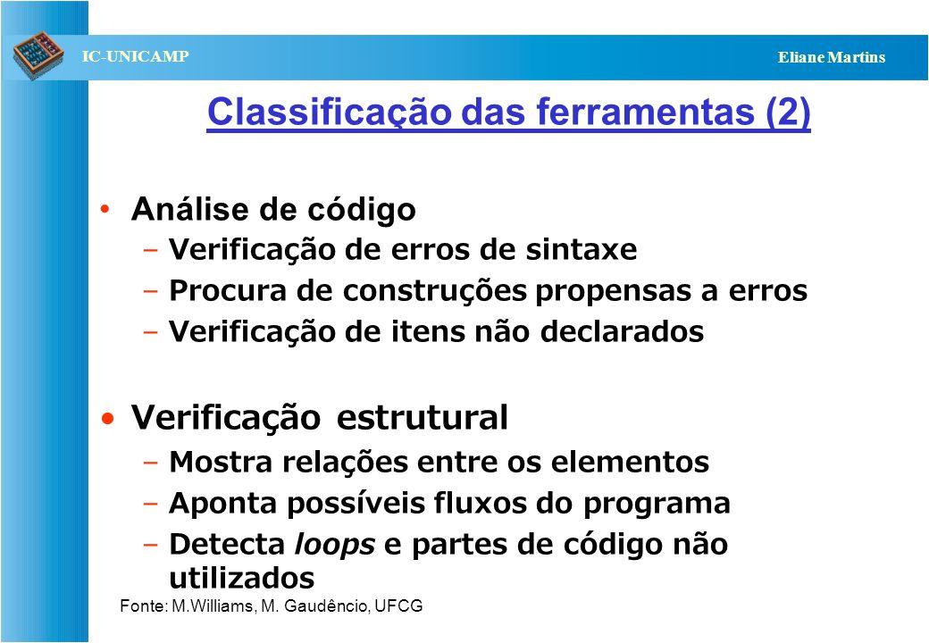 Classificação das ferramentas (2)
