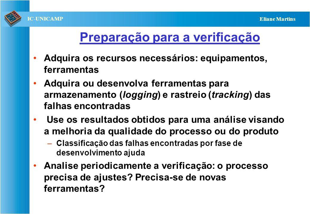 Preparação para a verificação