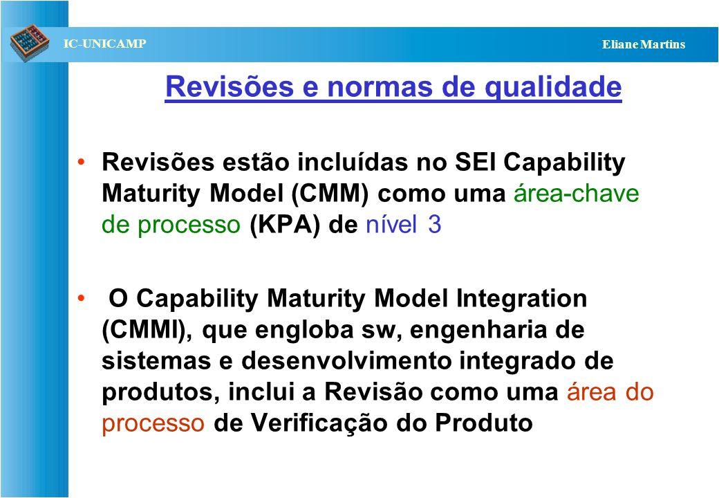 Revisões e normas de qualidade