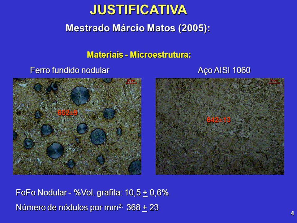 Mestrado Márcio Matos (2005): Materiais - Microestrutura: