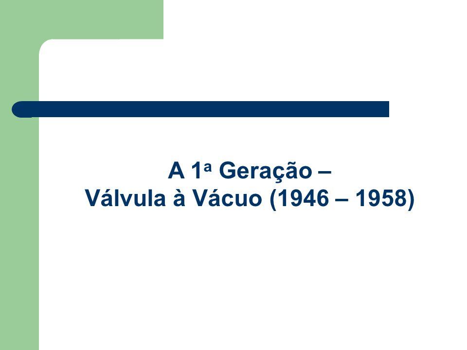 A 1a Geração – Válvula à Vácuo (1946 – 1958)