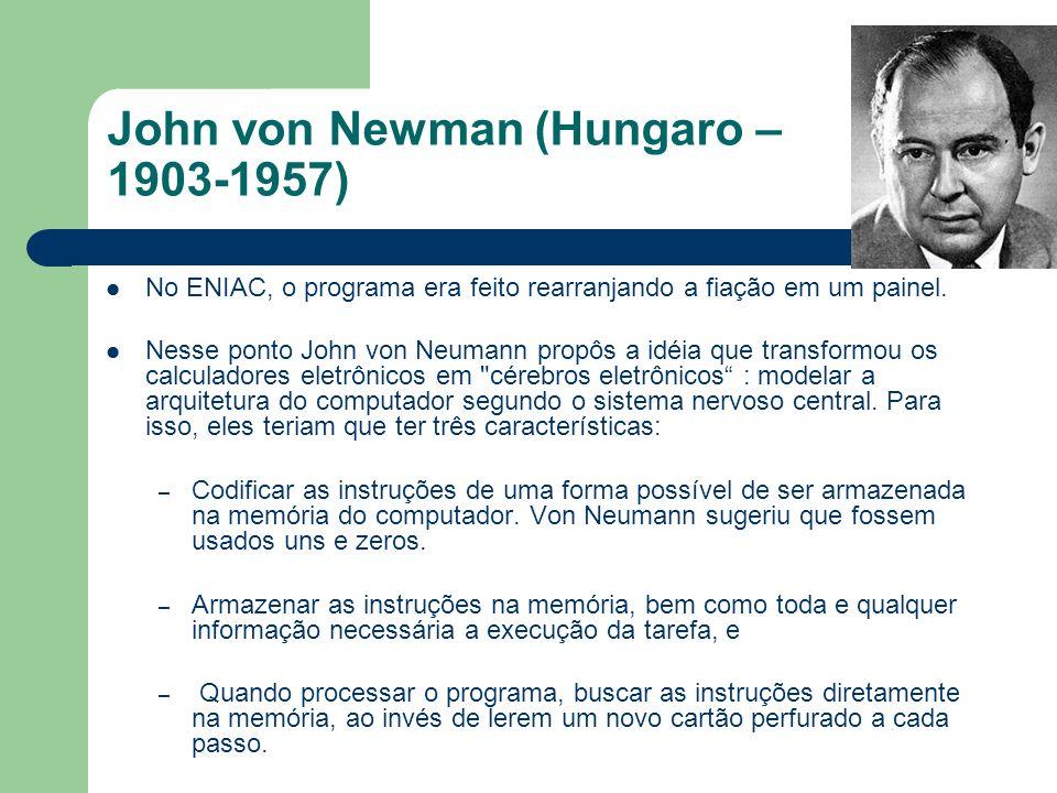 John von Newman (Hungaro – 1903-1957)