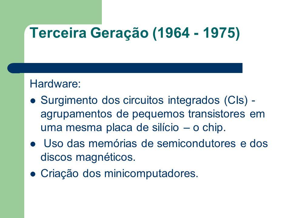 Terceira Geração (1964 - 1975) Hardware: