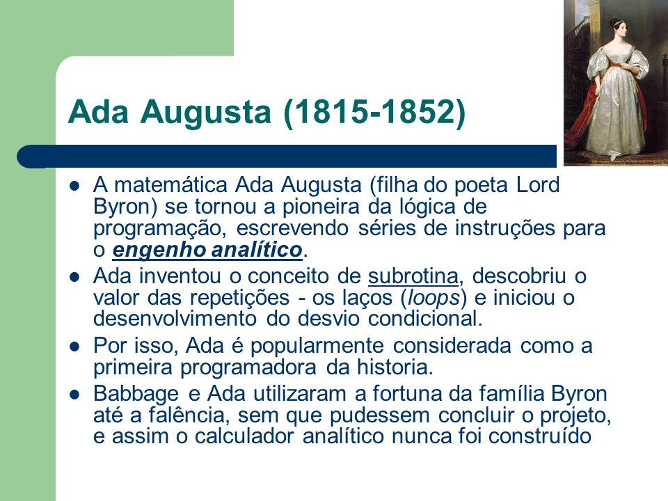 Ada Augusta (1815-1852)