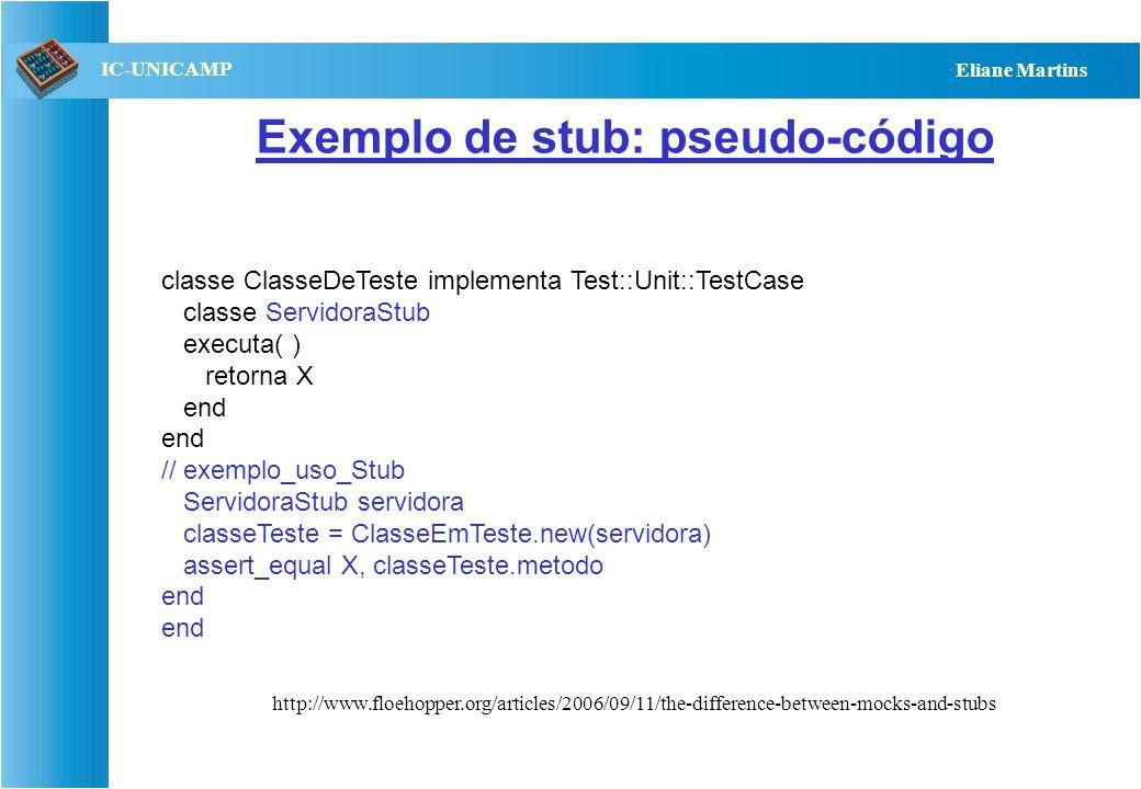 Exemplo de stub: pseudo-código