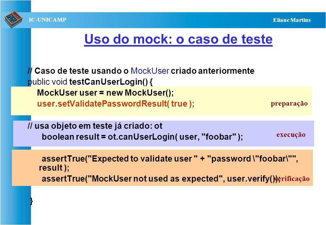 Uso do mock: o caso de teste