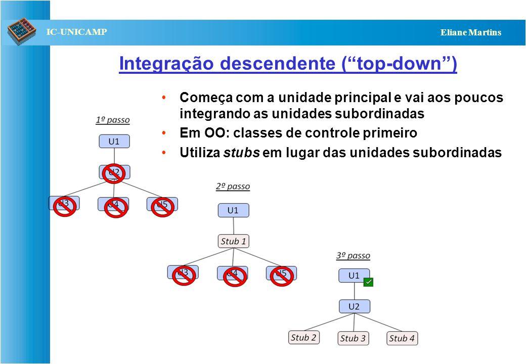Integração descendente ( top-down )