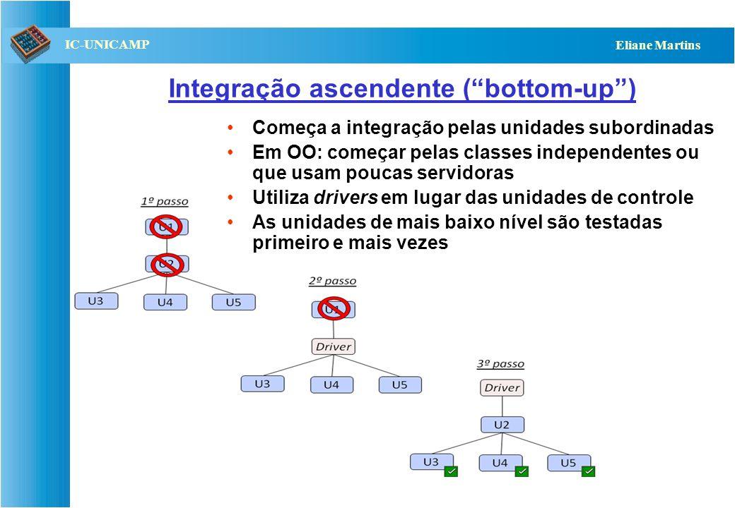 Integração ascendente ( bottom-up )