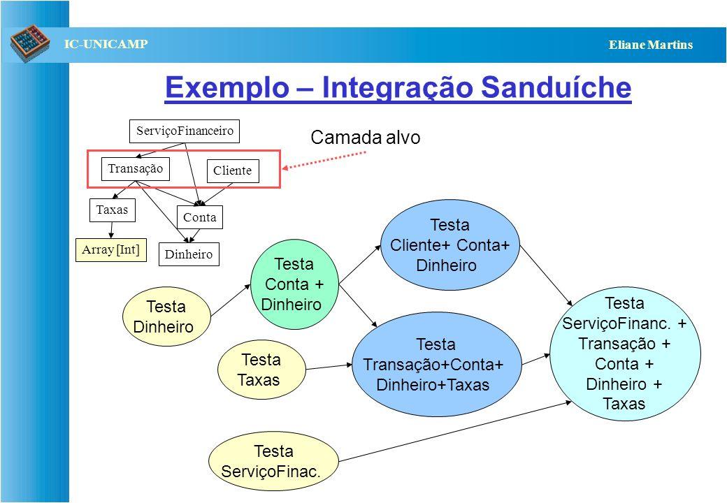Exemplo – Integração Sanduíche
