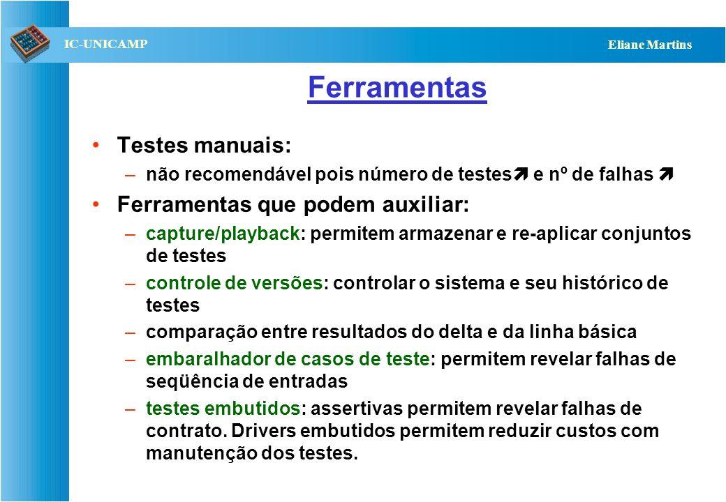 Ferramentas Testes manuais: Ferramentas que podem auxiliar: