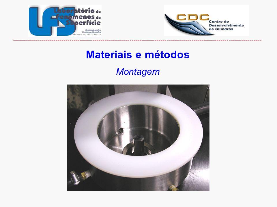 Materiais e métodos Montagem