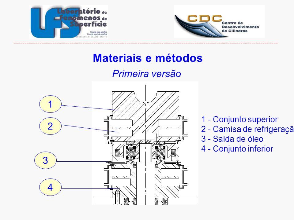 Materiais e métodos Primeira versão 1 2 3 4 1 - Conjunto superior