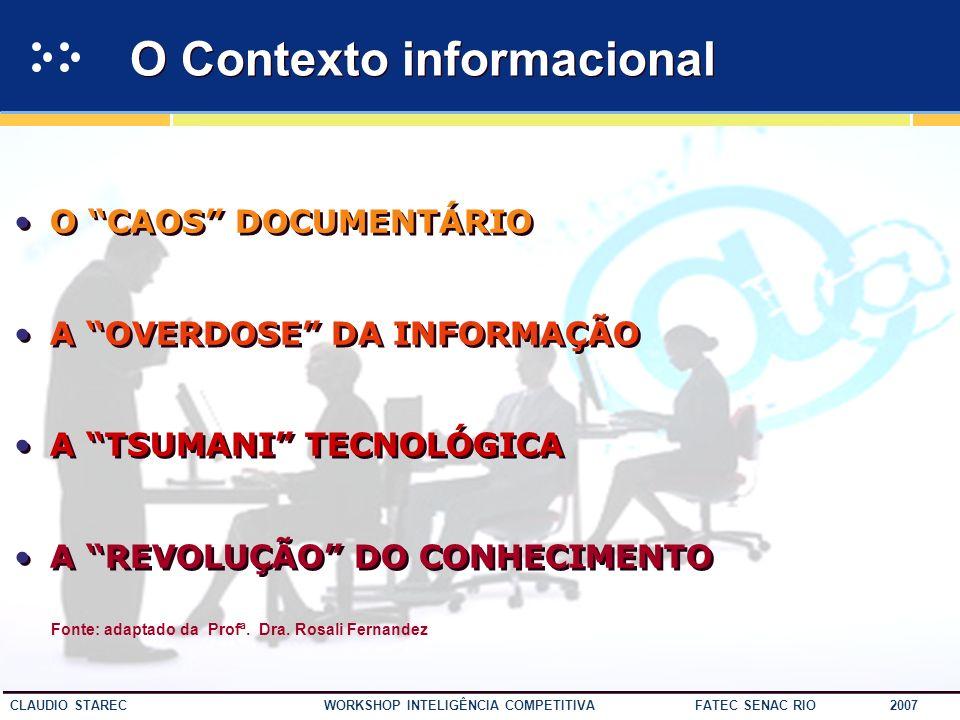 O Contexto informacional