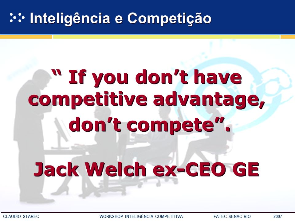 Inteligência e Competição