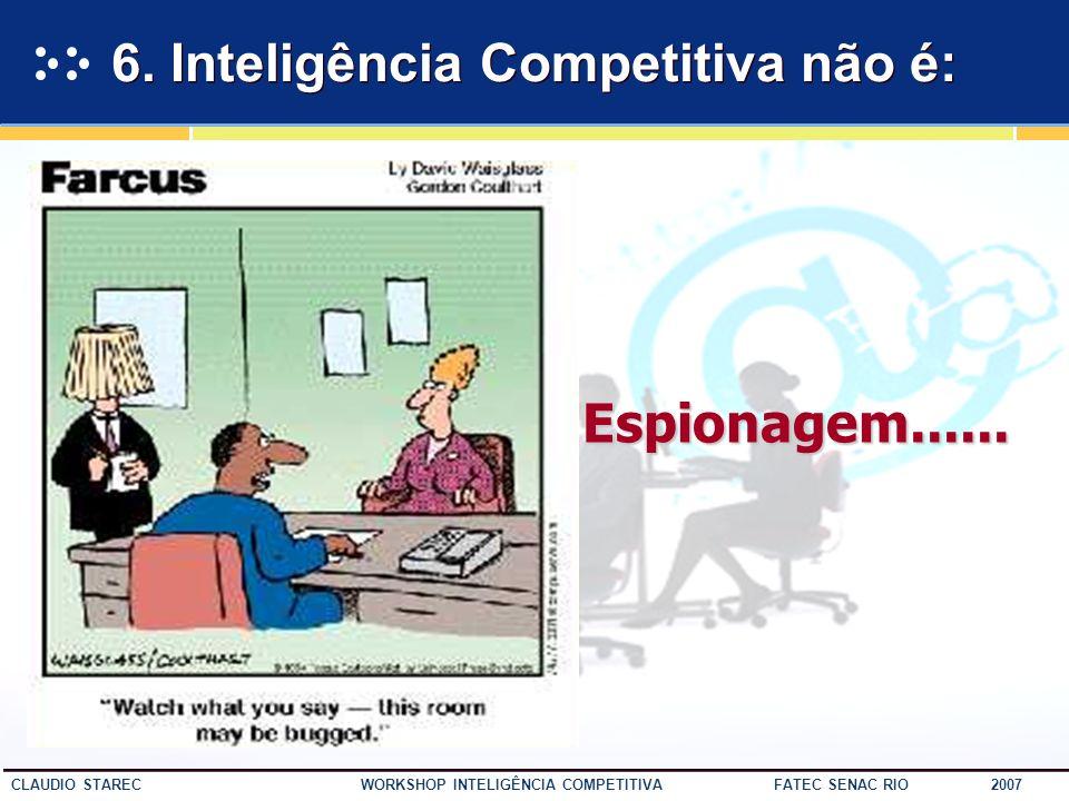 6. Inteligência Competitiva não é:
